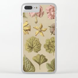 Victorian Botanical Clear iPhone Case