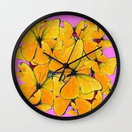 Golden Yellow Butterflies are my Favorite Wall Clock