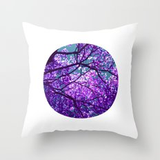 purple tree II Throw Pillow