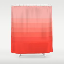 Living Coral Light to Bright Gradient Shower Curtain