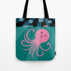 Octopus Selfie at Night Tote Bag