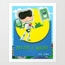 Texter & Mobi Art Print