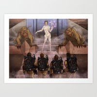 ghostbusters Art Prints featuring Ghostbusters by Kim Herbst