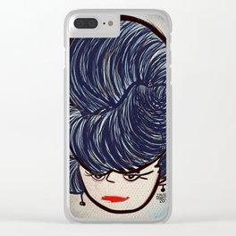 Victorian Lady / Dama Victoriana Clear iPhone Case