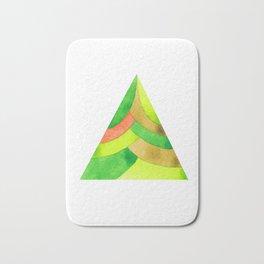 Green triangle Bath Mat