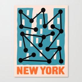 New York Composition 2 Canvas Print