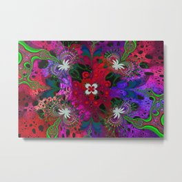 Hodge Podge Psychedelic Metal Print