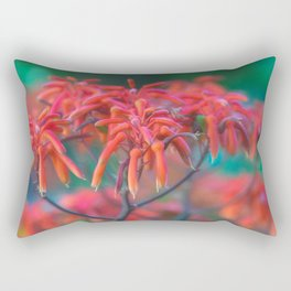 Red hybrid aloe inflorescence natural pattern Rectangular Pillow