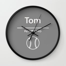 Tom - Baseball - Future Pro Wall Clock
