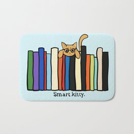 Smart kitty: great gift for writers who love cats! Bath Mat