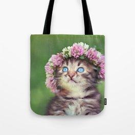 Springtime Feline Princess Tote Bag