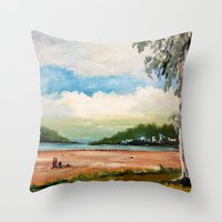 cleveland Throw Pillows featuring Cleveland by Helen Syron