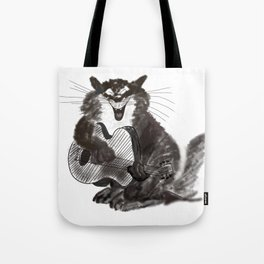 Rock and Roll Cat Tote Bag