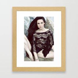 meet me in the sea 1 Framed Art Print