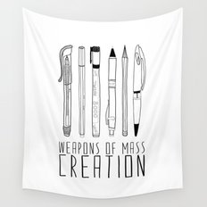weapons of mass creation Wall Tapestry