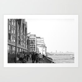 Cologne Harbour Art Print