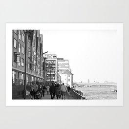 Cologne Harbour Art Print