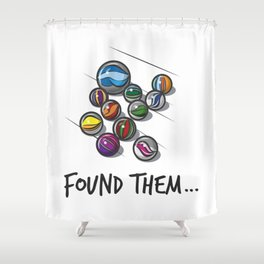 Lost Marbles Shower Curtain