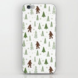 trees + yeti pattern in color iPhone Skin