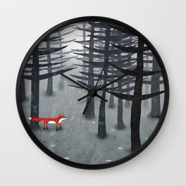 The Fox and the Forest Wall Clock