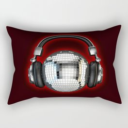 Headphone disco ball Rectangular Pillow