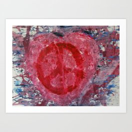 Peaceful Heart Art Print