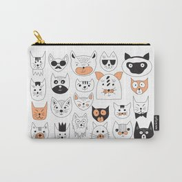 Set of cats faces Carry-All Pouch