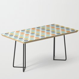 Retro Circles Mid Century Modern Background Coffee Table