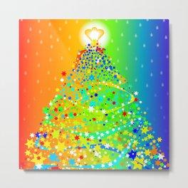 Ribbon Christmas Tree Metal Print