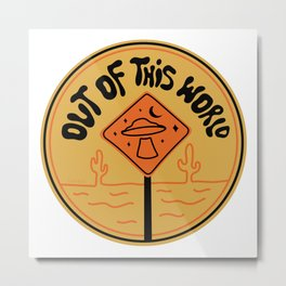 Out of This World Logo Metal Print