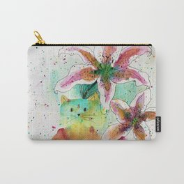 Tiger Lilies Cat Carry-All Pouch