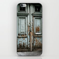 Turquoise Door iPhone & iPod Skin