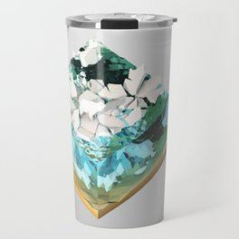 Low Poly Artic Scenes - Polar Bear (Isometric) Travel Mug