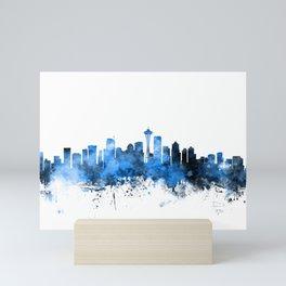 Seattle Washington Skyline Mini Art Print