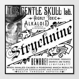 Victorian Ads Antique Poison Skull STRYCHNINE Canvas Print