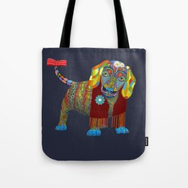 Yellow Mellow Dachshund Tote Bag