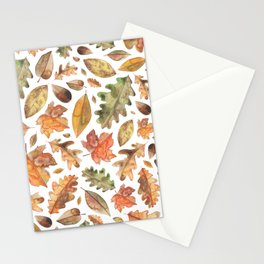 Watercolour Autumn Leaves. Stationery Cards