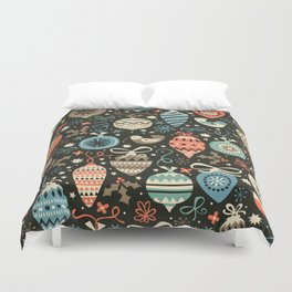 Festive Folk Charms Duvet Cover