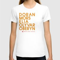 martell T-shirts featuring House Martell Typography series II by P3RF3KT