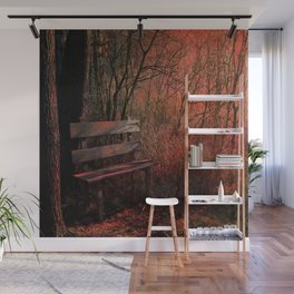 Days Gone By, Forest Landscape Bench Wall Mural