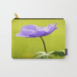Purple Anemone Natural Green Background #decor #society6 #buyart Carry-All Pouch