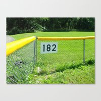 blink 182 Canvas Prints featuring blink 182's baseball field by lou gooding