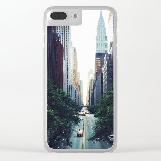 New York City Street Skyscapers Travel Wanderlust #tapestry Clear iPhone Case
