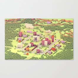 "EarthBound ""Onett"" (Day) Canvas Print"