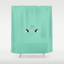 8-bit Pixel Bulba Shower Curtain