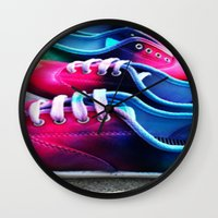 sneakers Wall Clocks featuring sneakers by NatalieBoBatalie