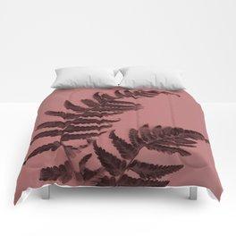 Fern on marsala Comforters