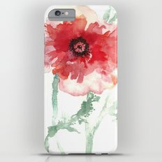 Poppy Watercolor iPhone 6s Plus Slim Case