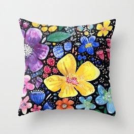 Flower galore Throw Pillow