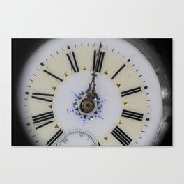 Portrait of an old watch face Canvas Print